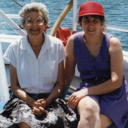 My lovely mother in law Joan on holiday in Malta. Sadly passed now.
