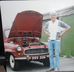 My Lovely hubby with our classic Skoda. Died 3/10/17